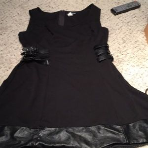 Hottopic Mini Dress with Leather Straps Size Large